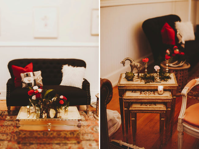 Vintage Seating Vignette Florals by Wild Green Yonder - Styling by Sarah Park Events - Nessa K Photography.jpg