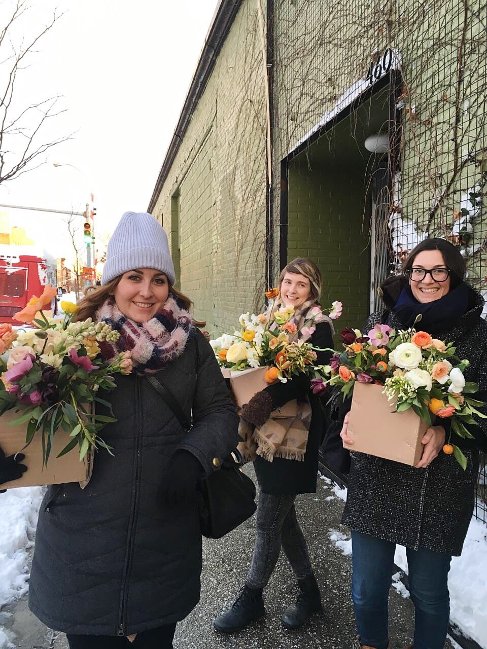 Wild Green Yonder | Little Flower School Brooklyn | Winter Citrus Class at Sky Gallery