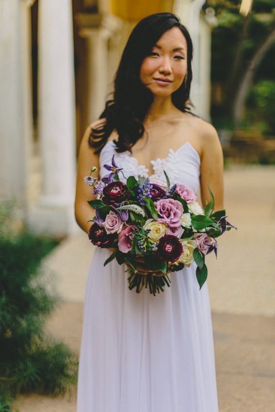 Purple Garden Bouquet by Wild Green Yonder - DC Wedding Florist