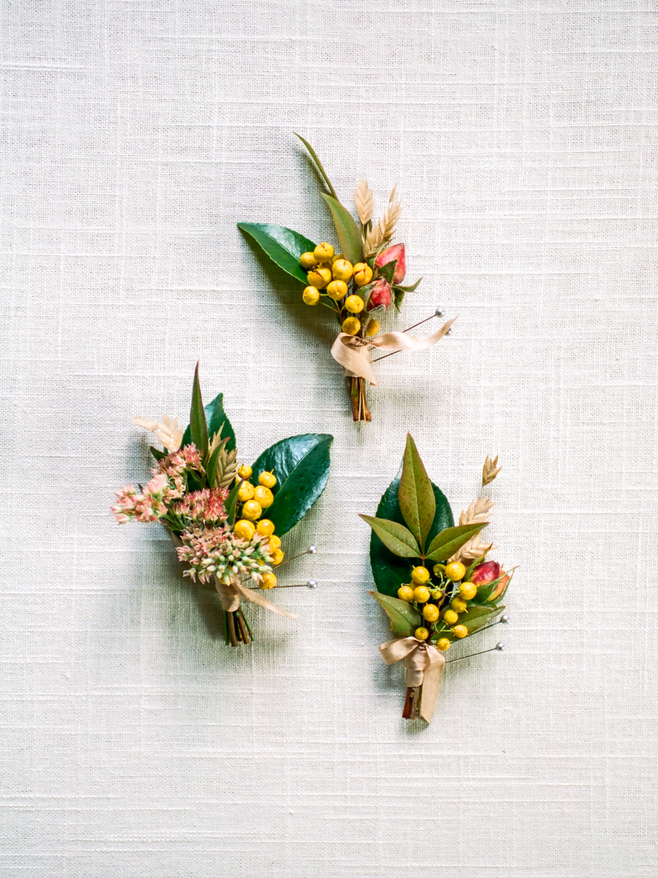 Wild Green Yonder Natural Fall Boutonnieres