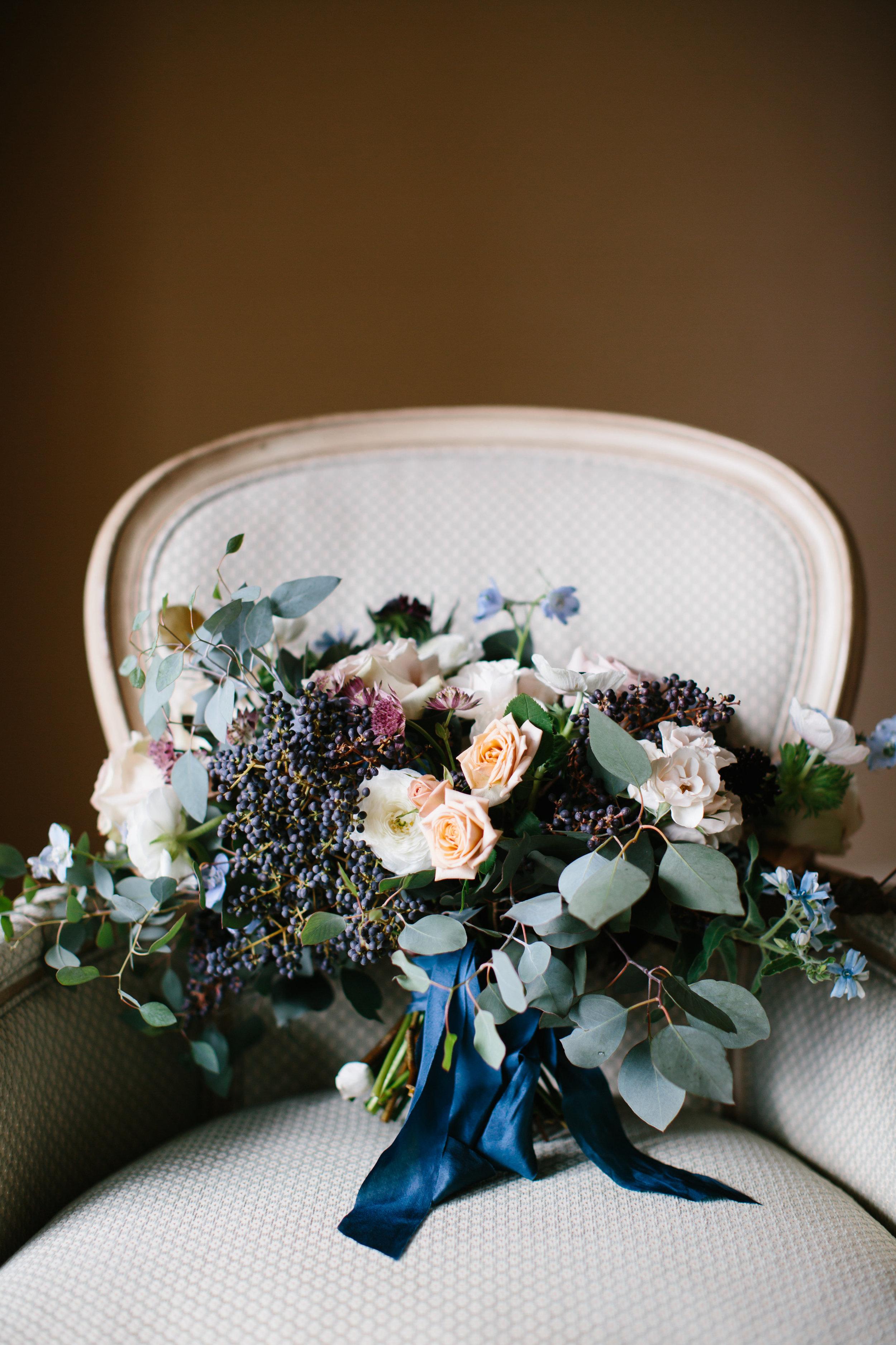 Lush garden bouquet by Wild Green Yonder