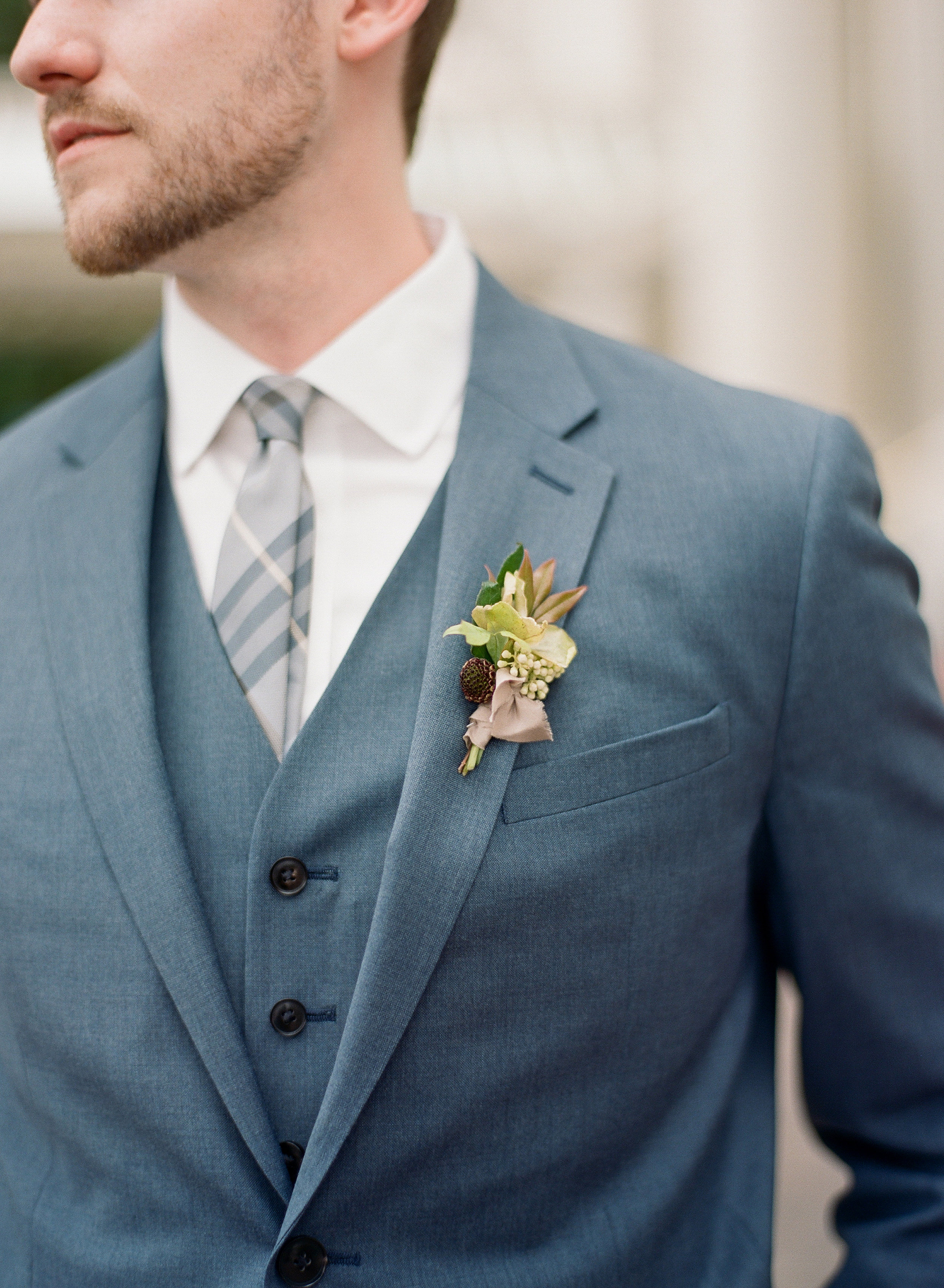 Textural Boutonniere by Wild Green Yonder