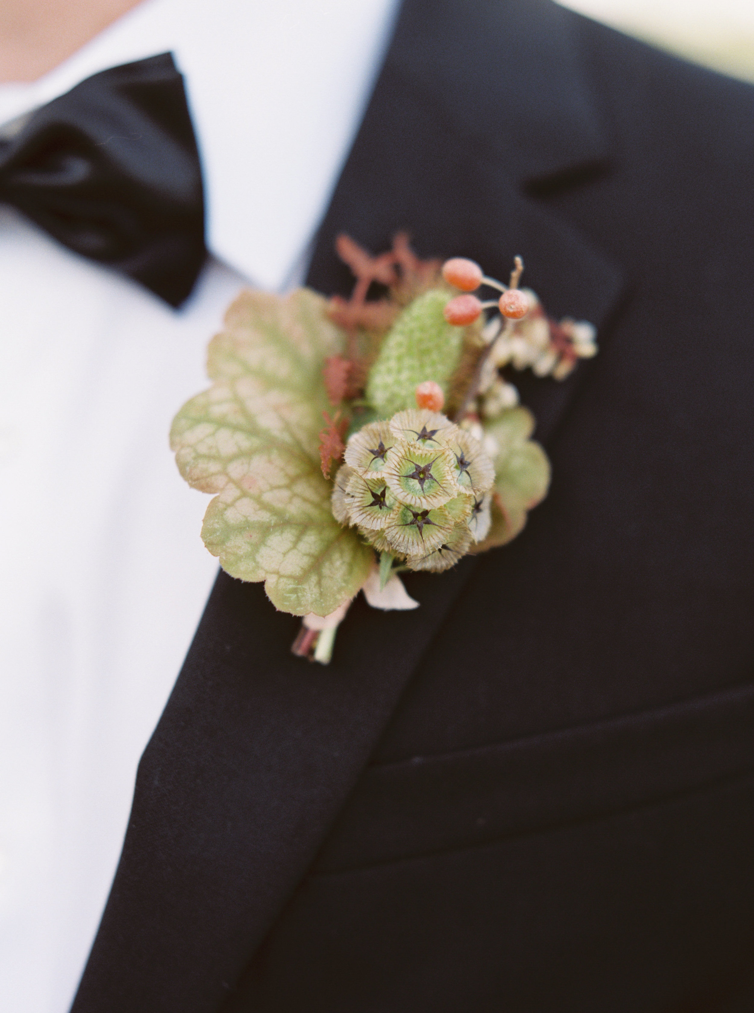 Early Mountain Vineyard Wedding - Wild Green Yonder boutonniere