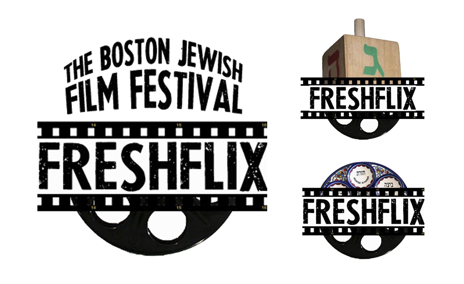 FreshFlix Logo, Boston Jewish Film Festival, 2014