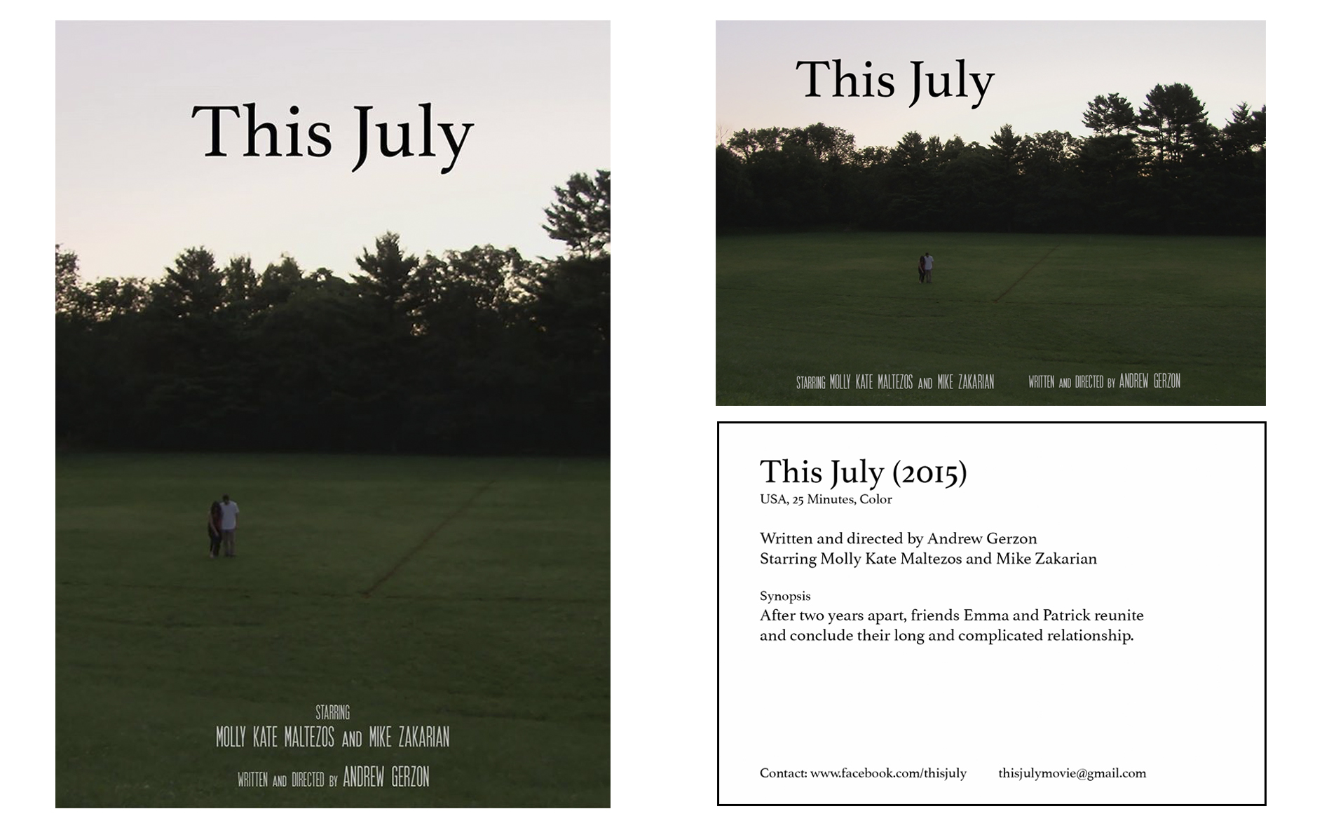 This July Movie Poster/ Postcard, 2016