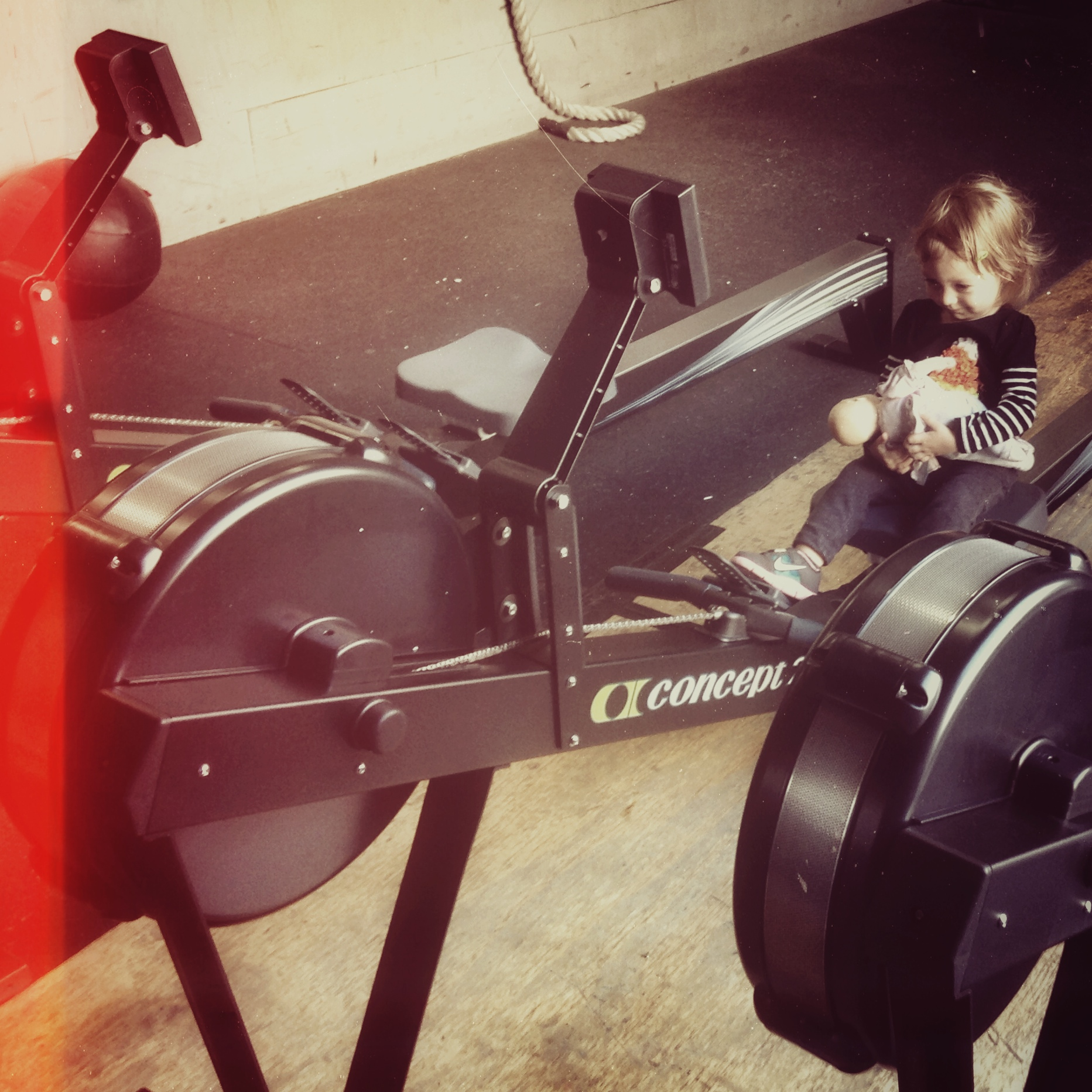 New toys! Just in: 3 brand spankin' new, all-black Concept 2 Rowers!
