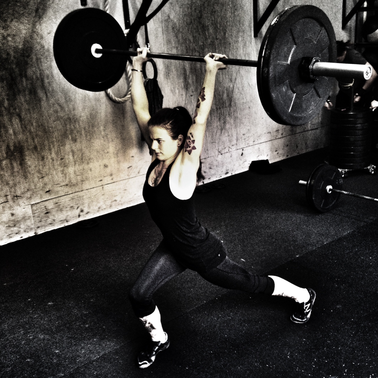 Marina. Clean and Jerk.  Photo by Rafael Vega