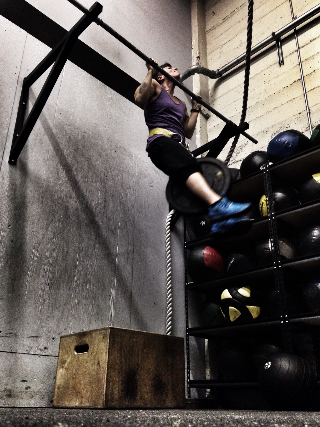 Emily. Weighted Pull Ups.  Photo by Rafael Vega