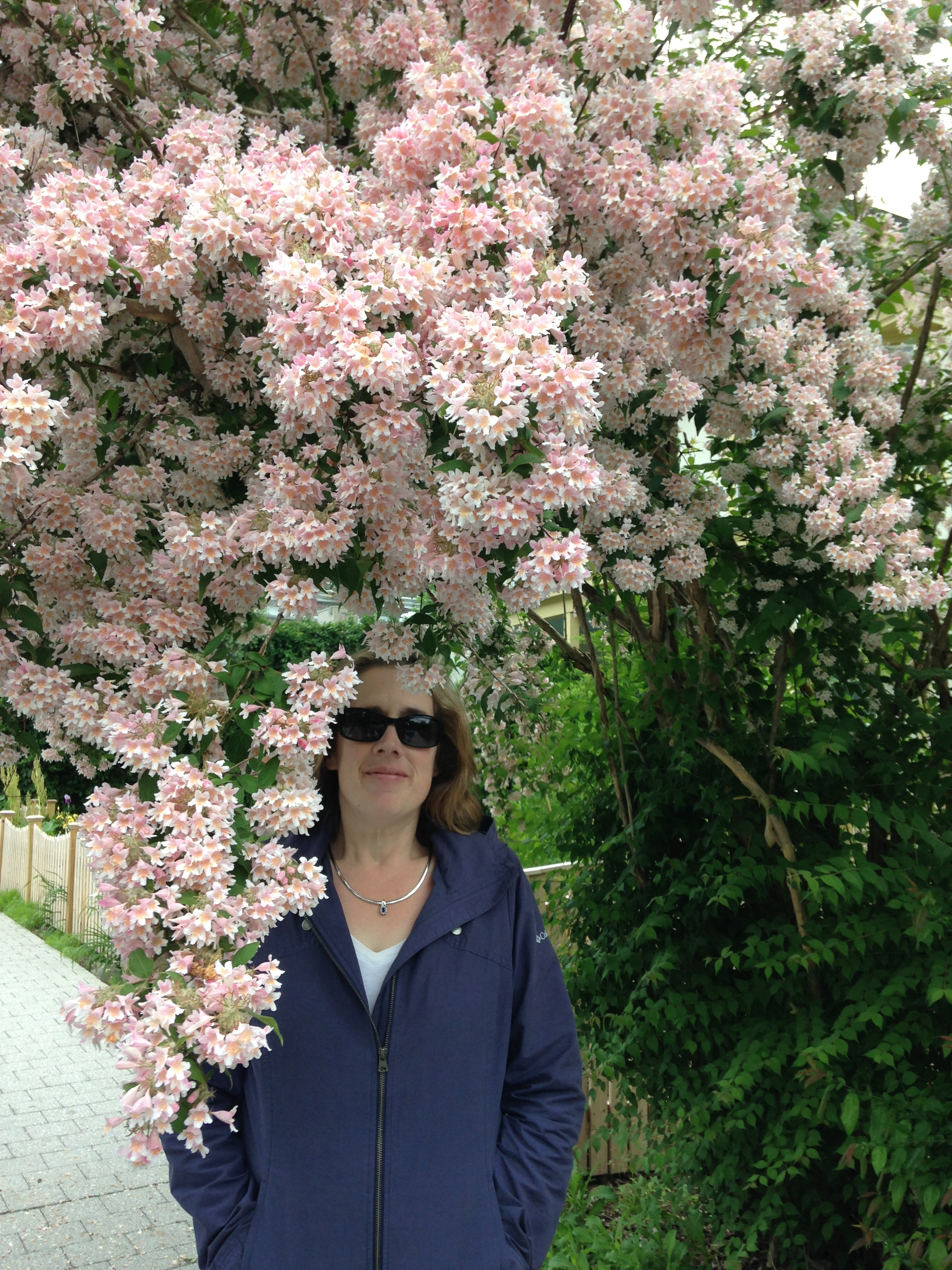 Me with flowers