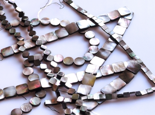 Then there are Mother of Pearl beads I needed to copy a design of mine for a client who lost the original piece and wants a duplicate made. Of course I bought enough to create a couple more designs.