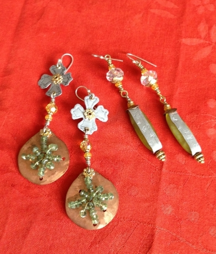 Recycled Aluminum, Glass Beads, and Copper,