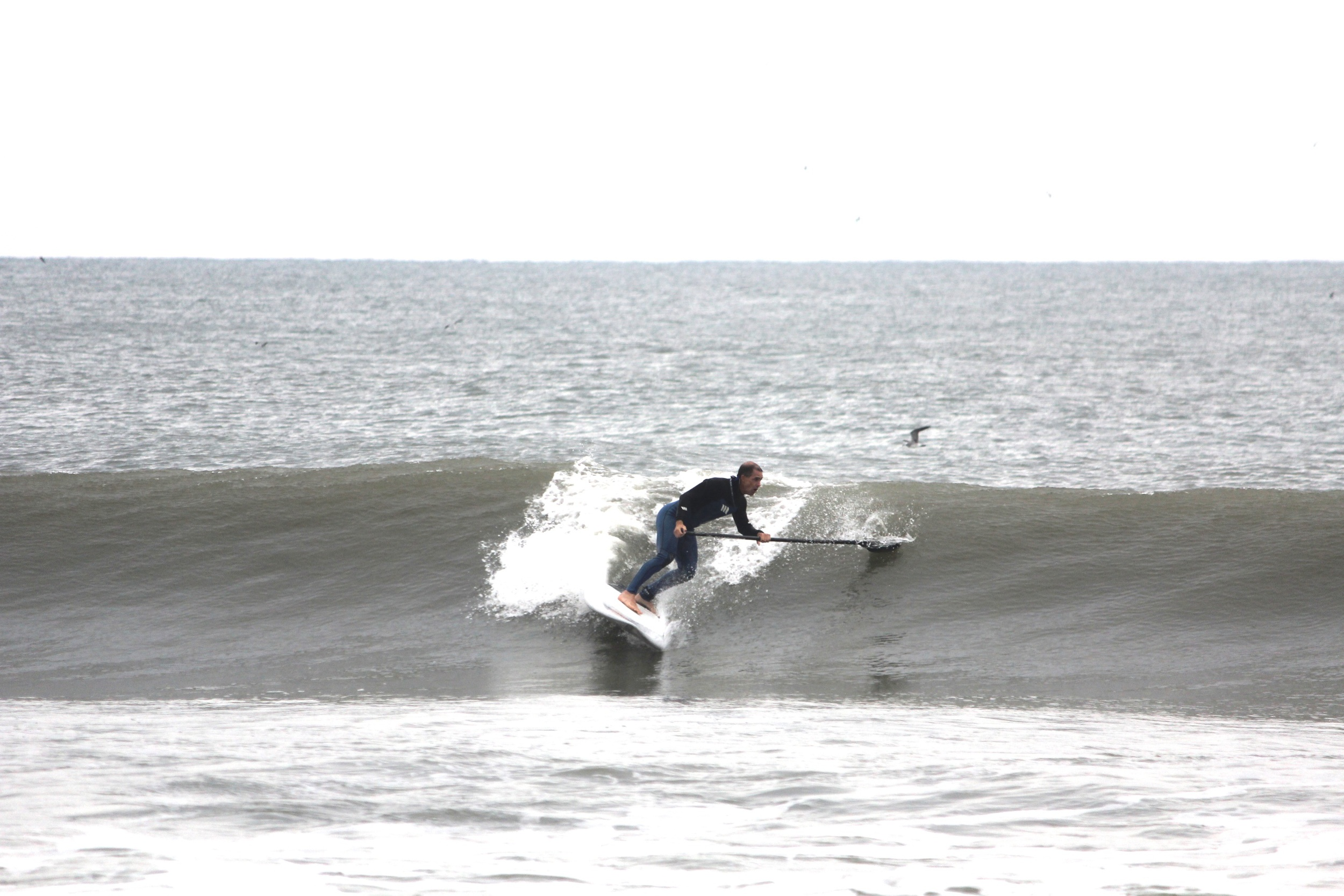Surf Machine testing the 7'8 Accelerator