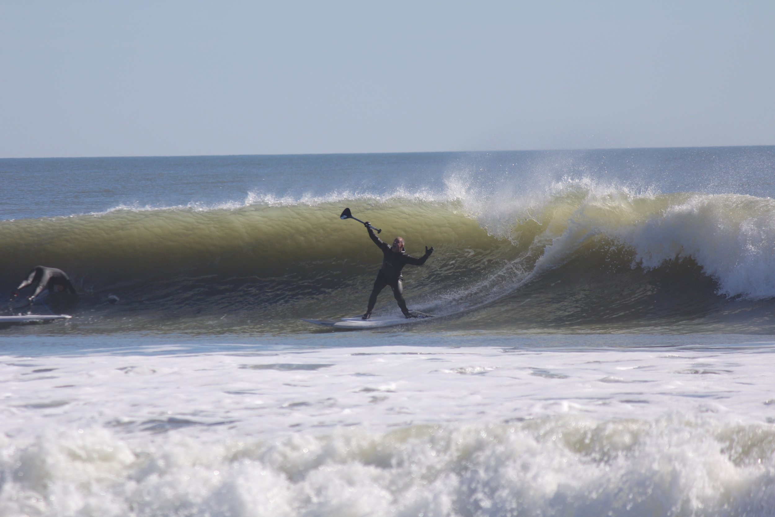 Surf Machine surrenders, while Jacky dives!