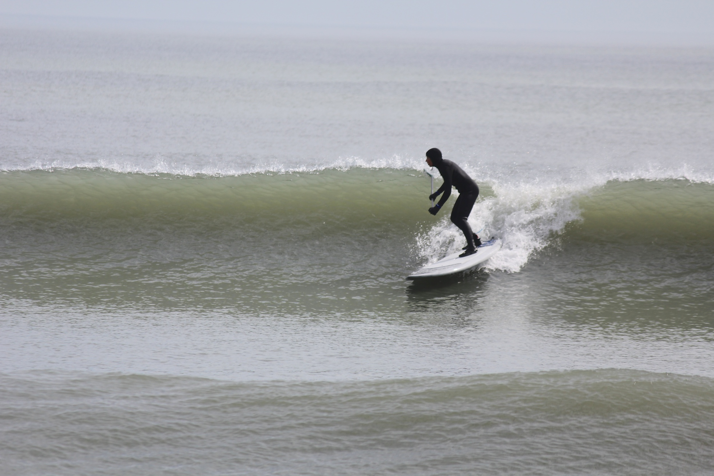 Jacky was a surf machine today. On the water longer than anyone, getting tons of perfect waves
