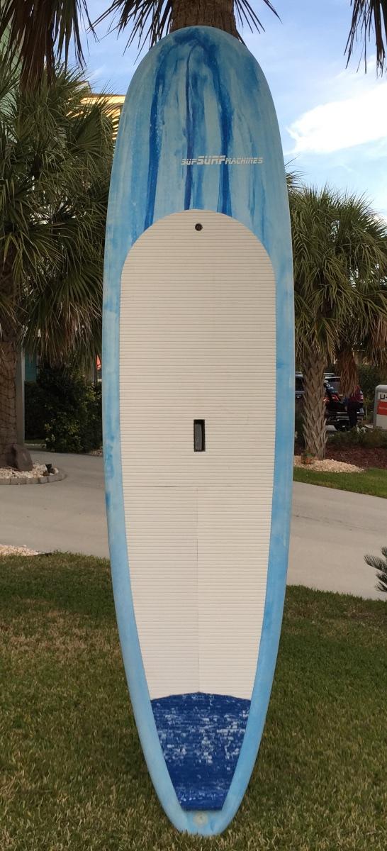 Jacky's new 28.5 wide 9'9 longboard. She likes blue, so she got blue!