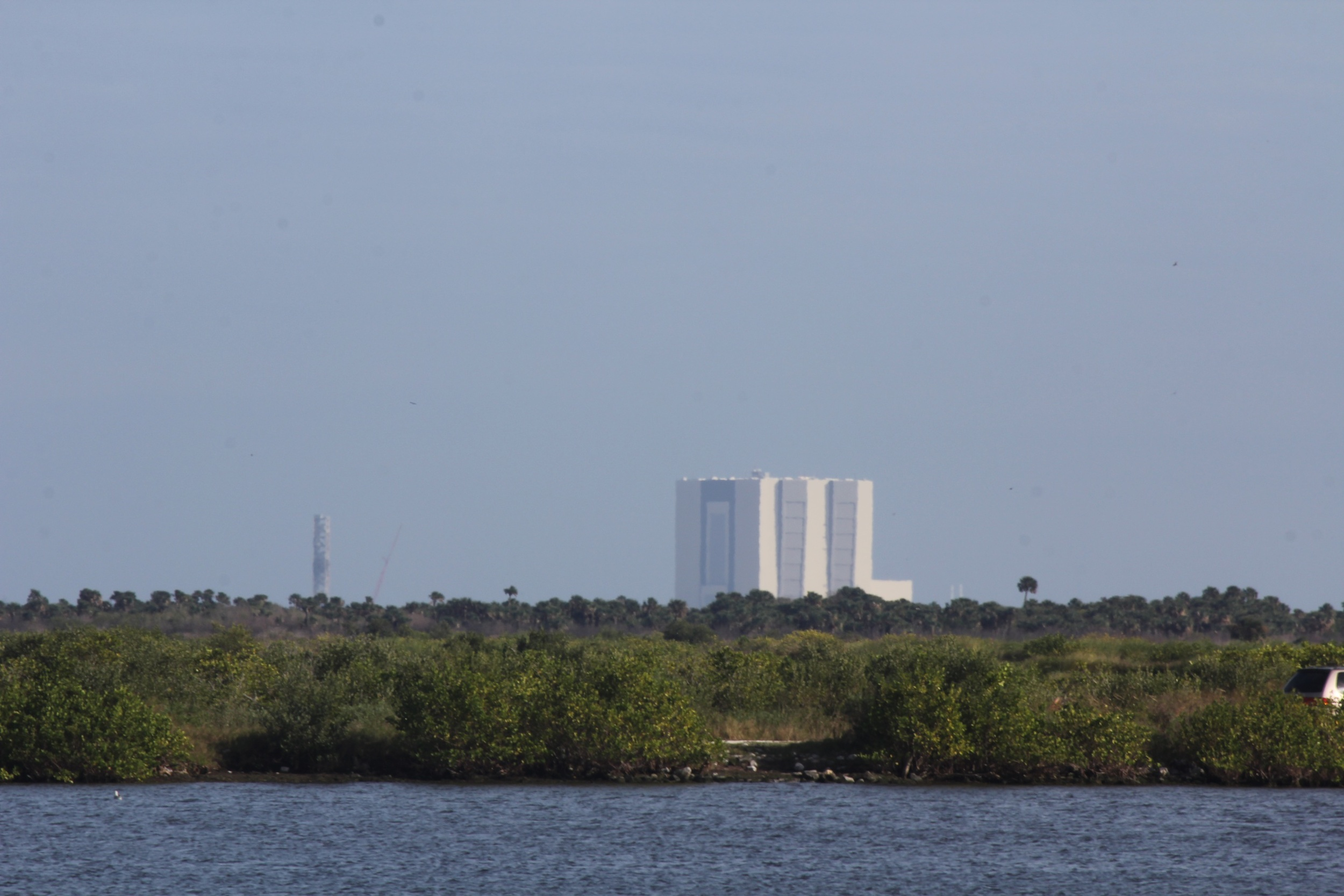 This is where we windsurfed today, NASA Shuttle buildings