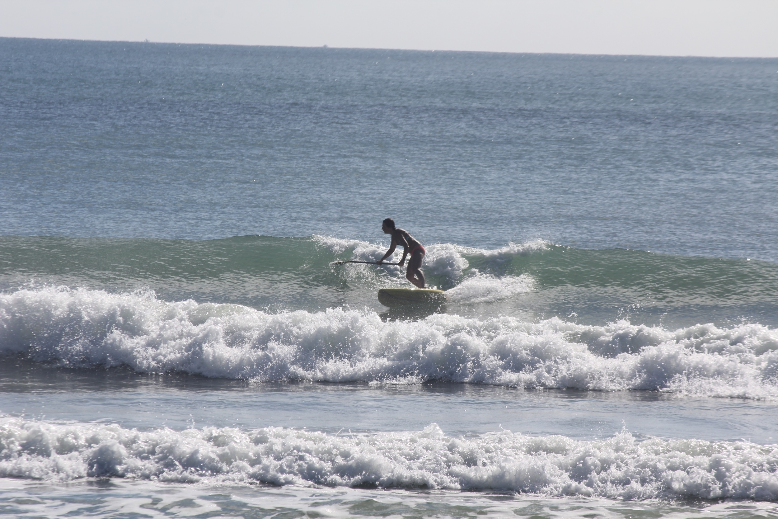 Jacky on her board today.