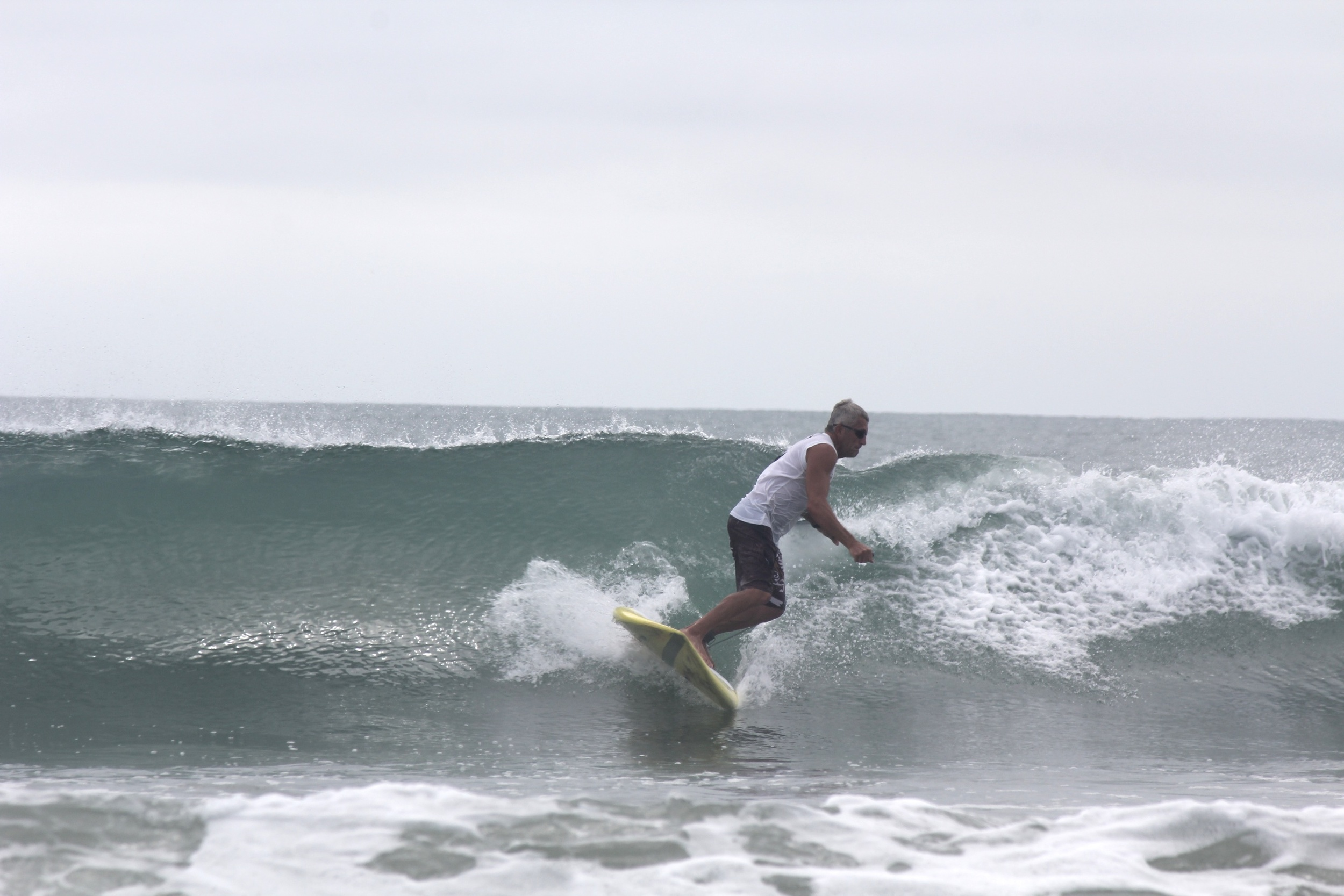 Steve on his 7'8 Accelerator with Speed Rail