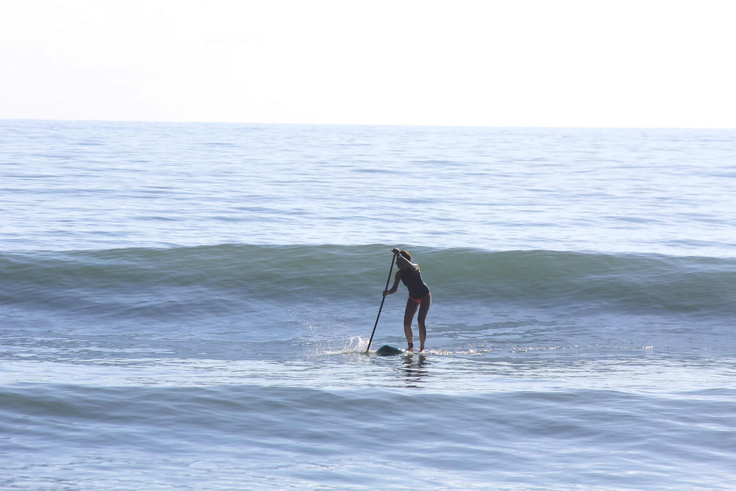 Jacky's first good day on her new 7'7 Accelerator Pro with Speed Rail.