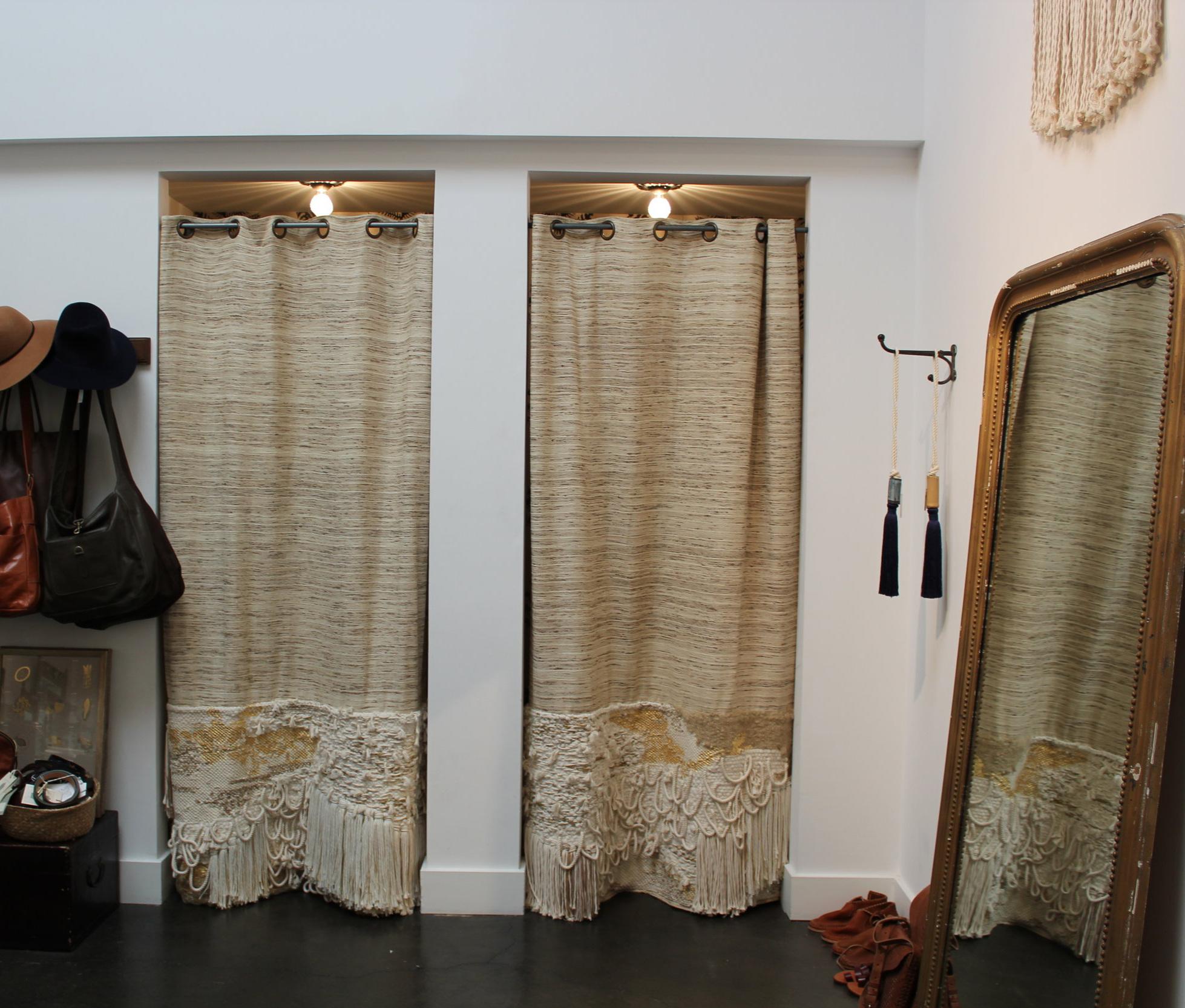 DRESSING ROOM CURTAINS @ ERICA TANOV, BERKELEY