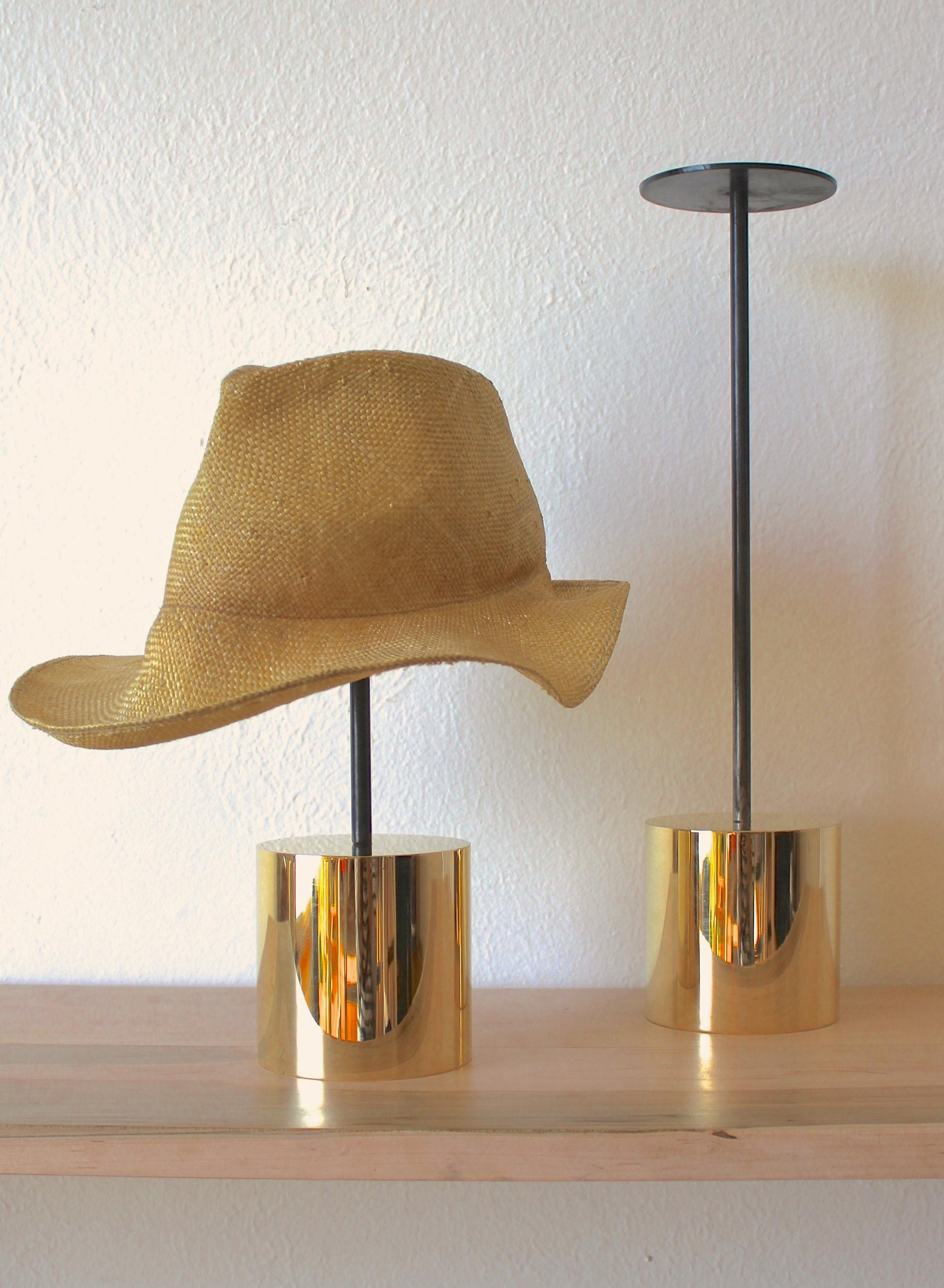 SOLID BRASS HAT STANDS @ BIRD, CULVER CITY