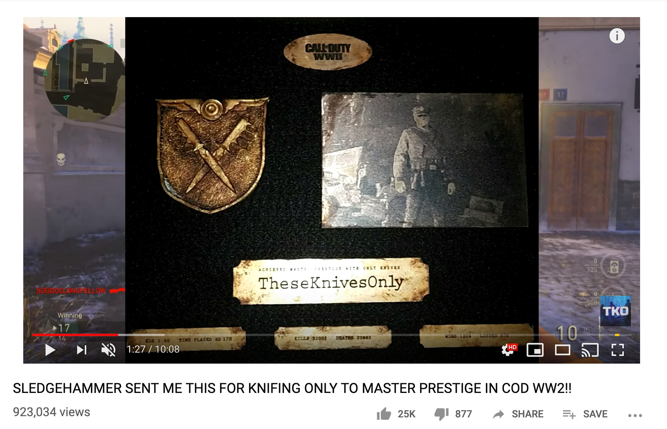 These Knives Only 10 minute reaction video to receiving the Plaque. Watch  here .