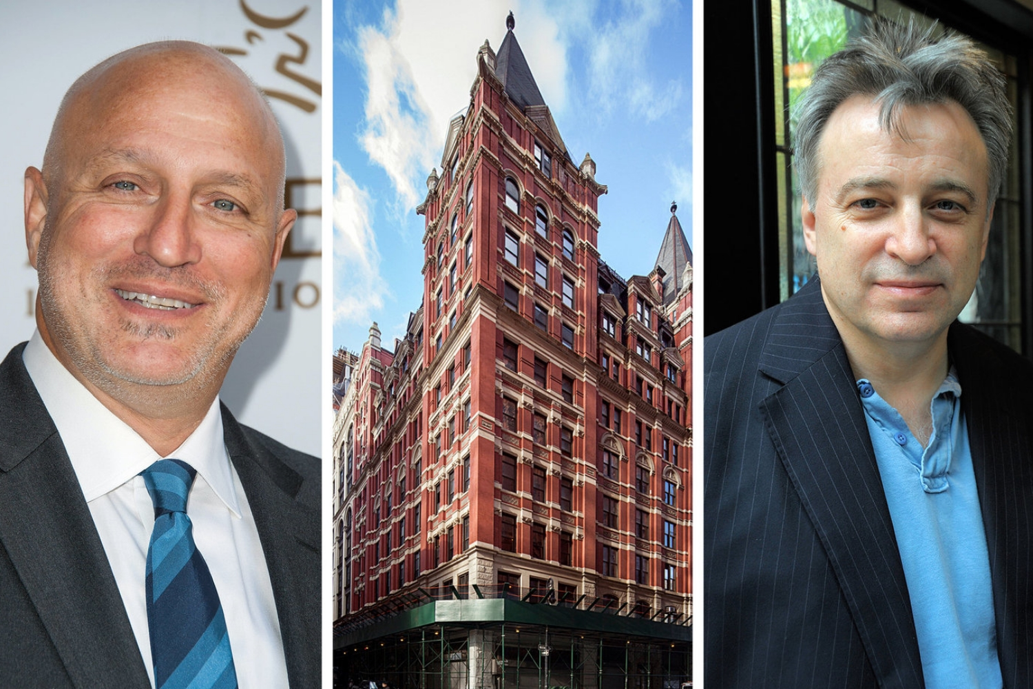 Tom Colicchio (left) and Keith McNally (right) opened restaurants in the restored landmark hotel.