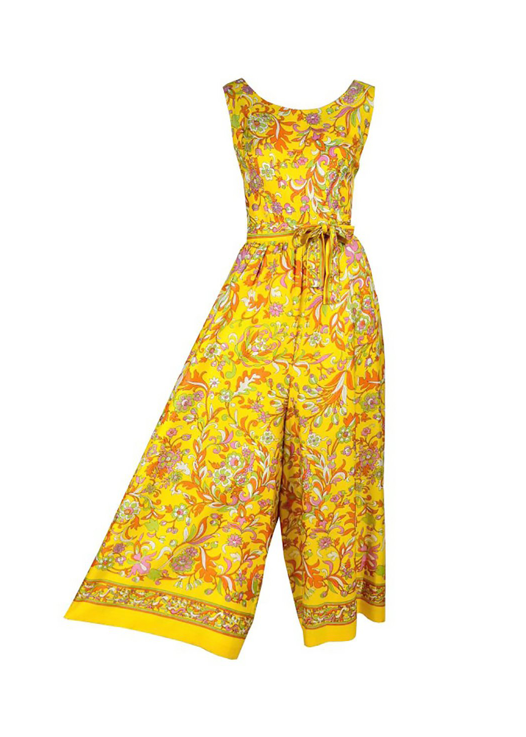 1970s Vintage Paisley Floral Palazzo Jumpsuit from DRESSING VINTAGE