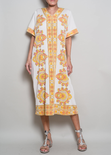1960s MR DINO Printed Jersey Tunic from A PART OF THE REST Vintage
