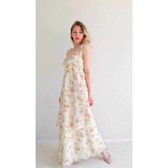 A Part of the Rest recommends ARIETTA Vintage 1970s Floral Cotton Maxi Summer Picnic.jpg