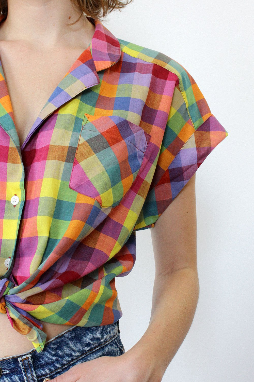 A Part of the Rest recommends Omnia Vintage Madras Plaid Picnic Top .jpg