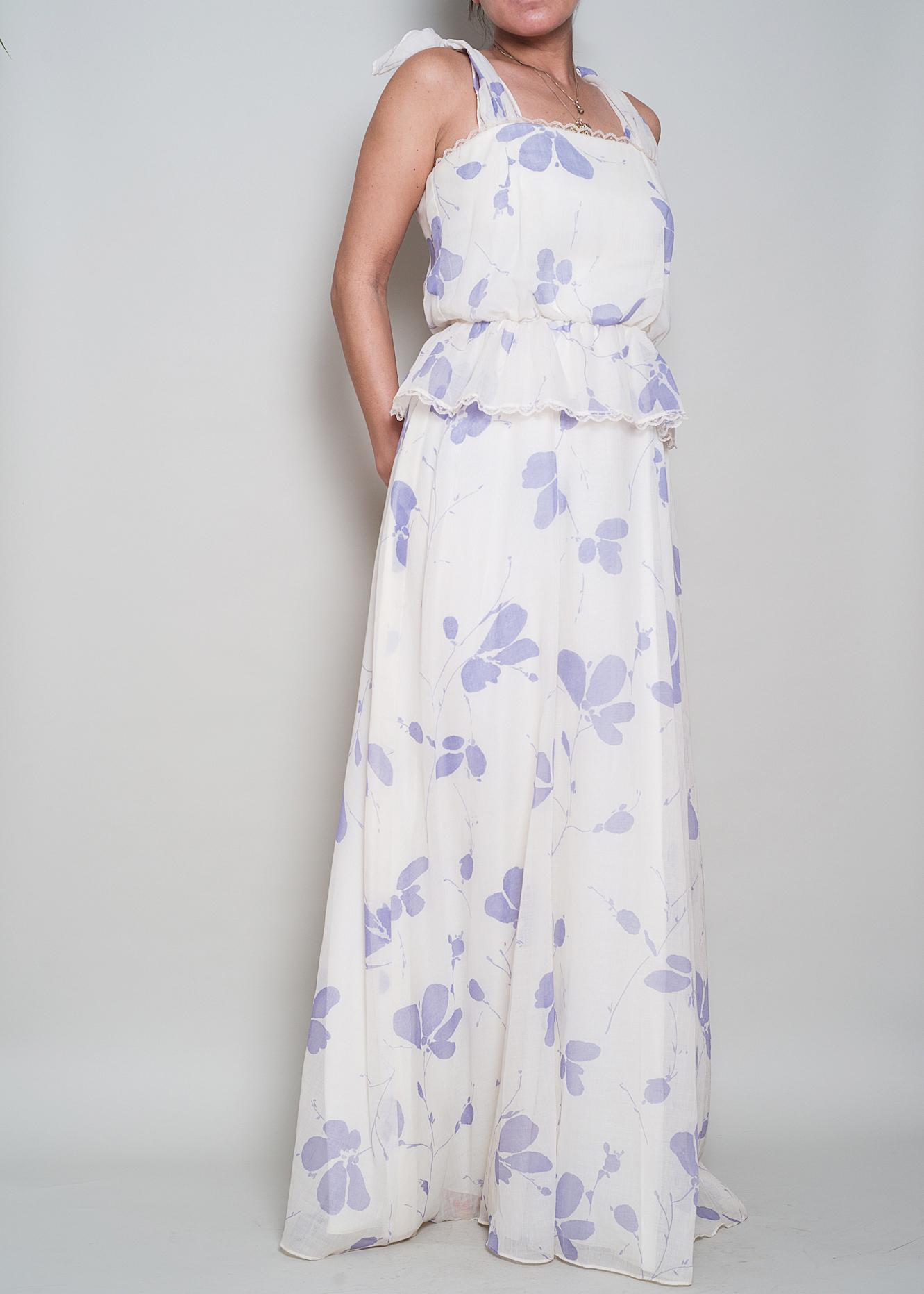 A_Part_of_the_Rest_Vintage_1970s_White_Lavender_Floral_Cotton_Tie_Shoulder_Maxi_Ruffle_004.jpg