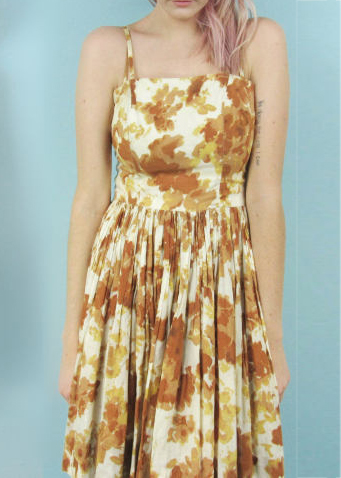 A Part of the Rest recommends Palace Vintage Tan Floral Picnic Dress.jpg