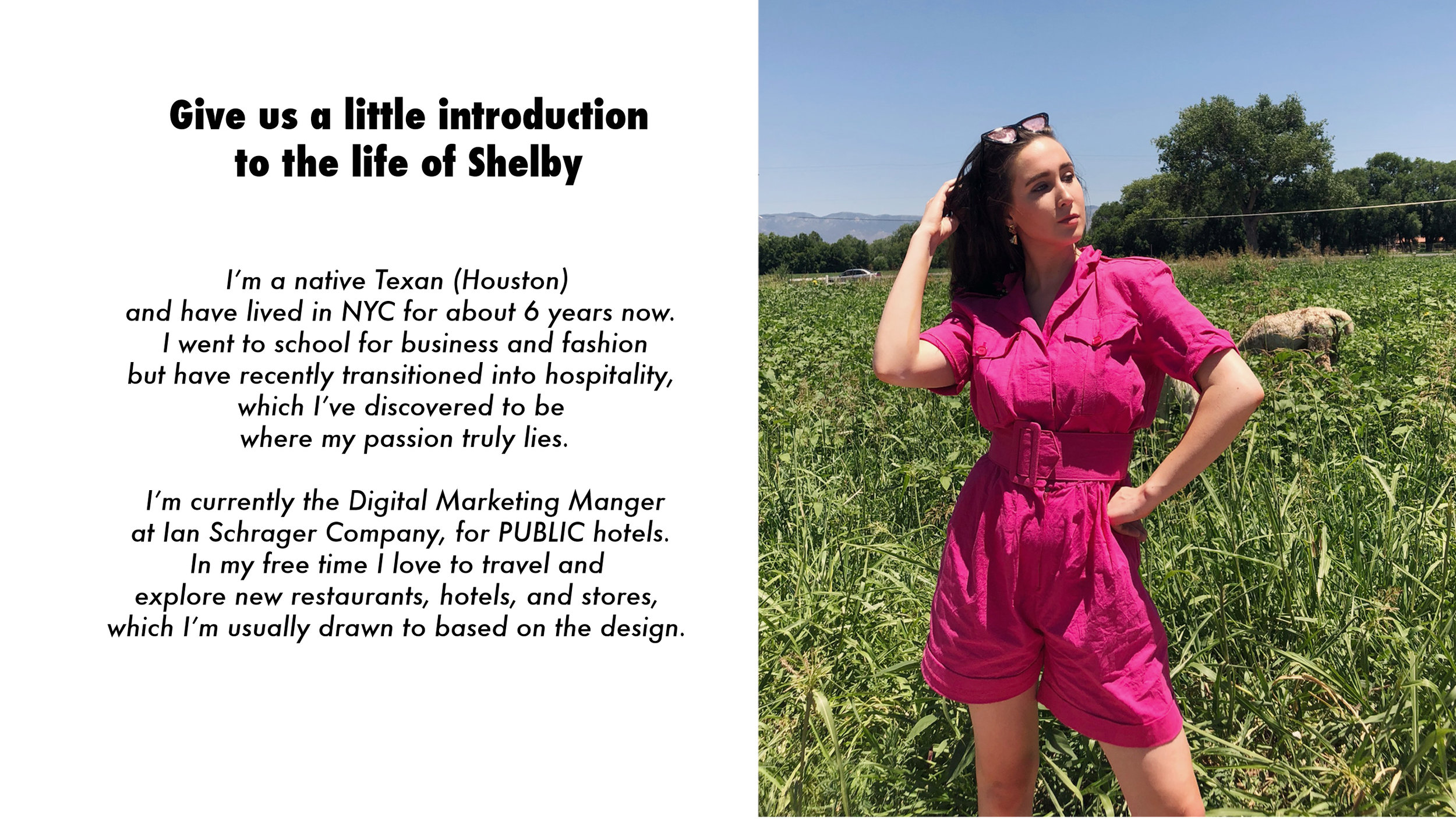 Shelby in a 1990s pink cotton romper from A Part of the Rest