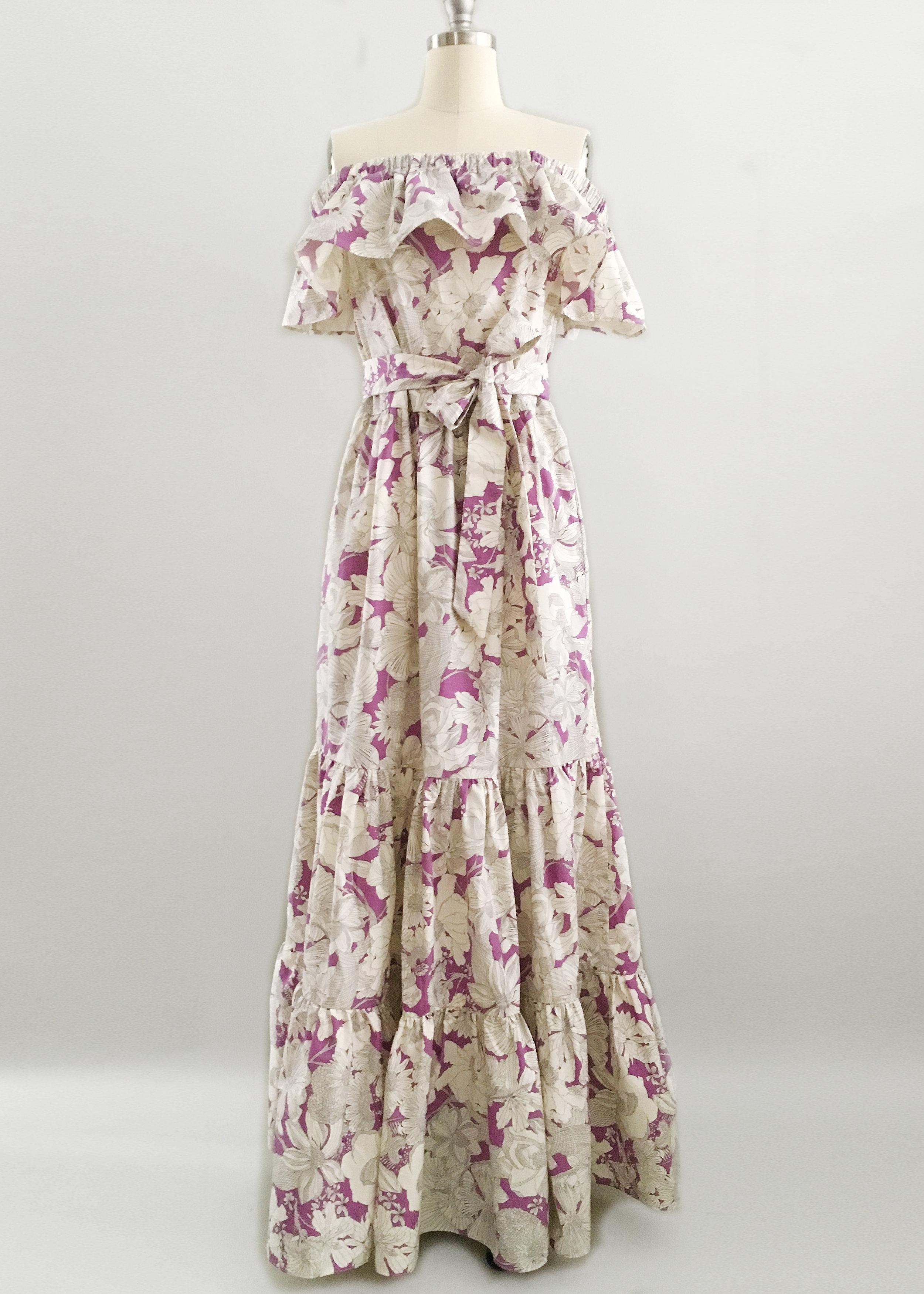 Liberty Print Cotton Floral Custom Tiered Maxi Dress.jpg