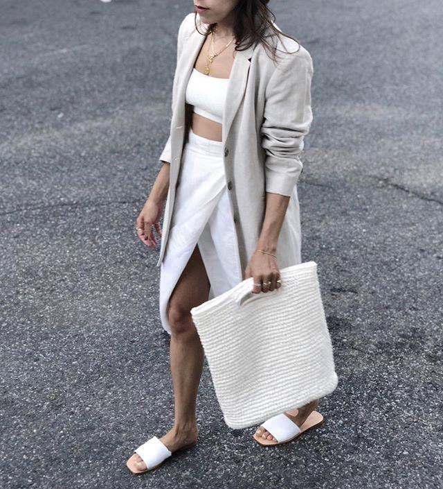 Lauren in a wrap skirt from Elia Vintage and vintage blazer from The Break via Instagram