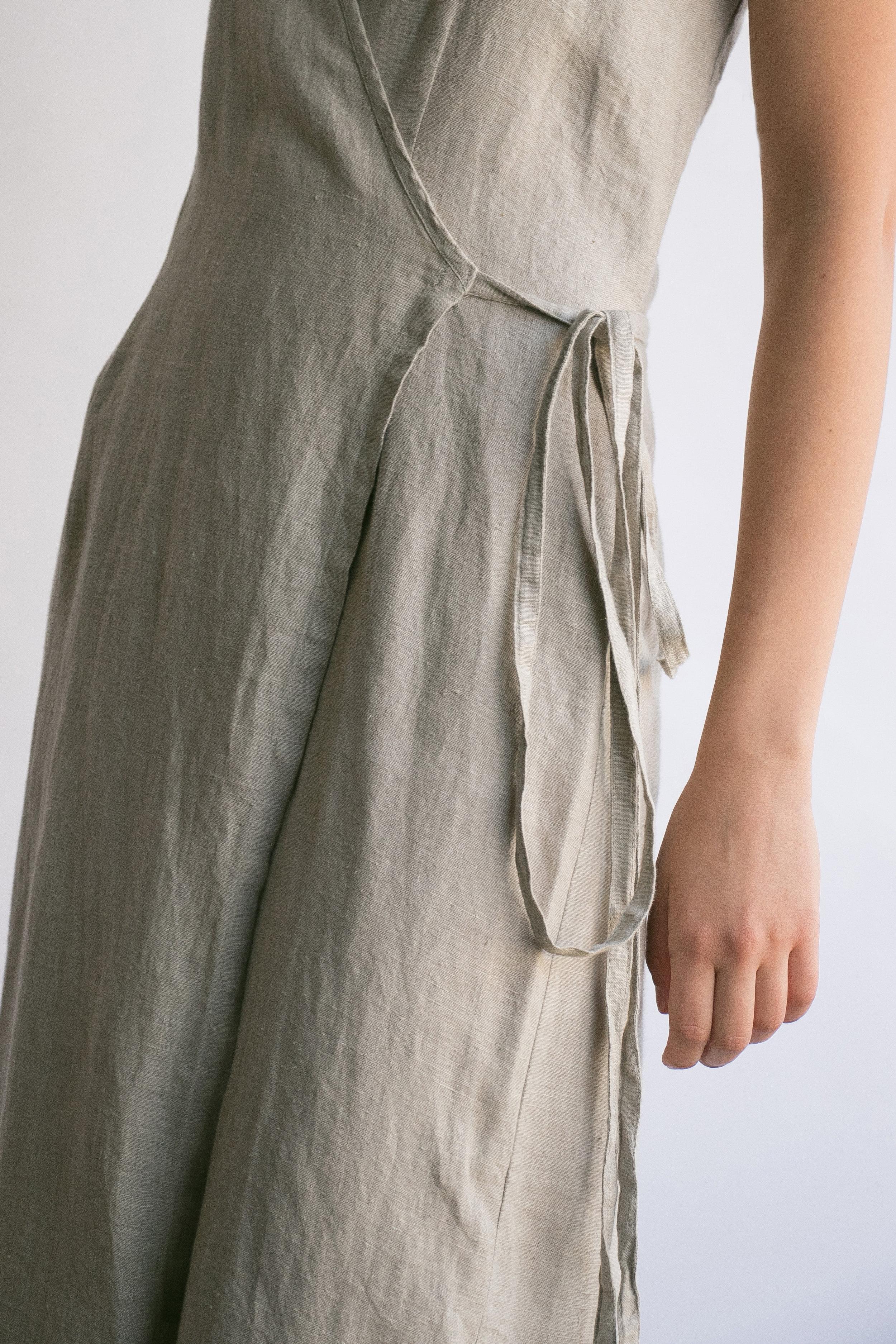 A Part of the Rest - Circa Now- Salt and Sand-Lauren Caruso-vintage finds-I am that shop linen wrap dress.jpg