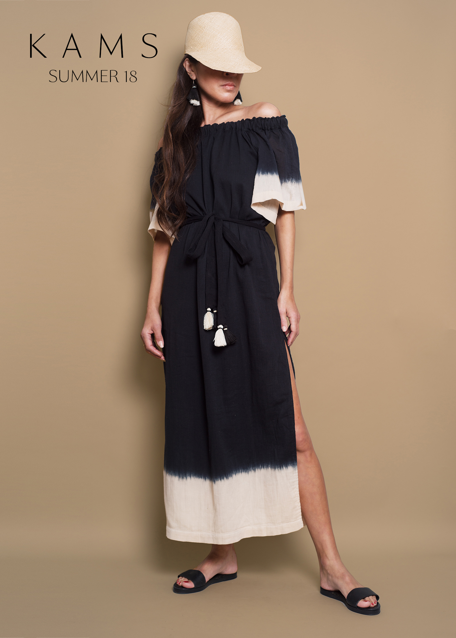 An easy gauze dress - From our house collection, KAMS, the Serena dress is a breeze. Lightweight, airy, thrown on and done.