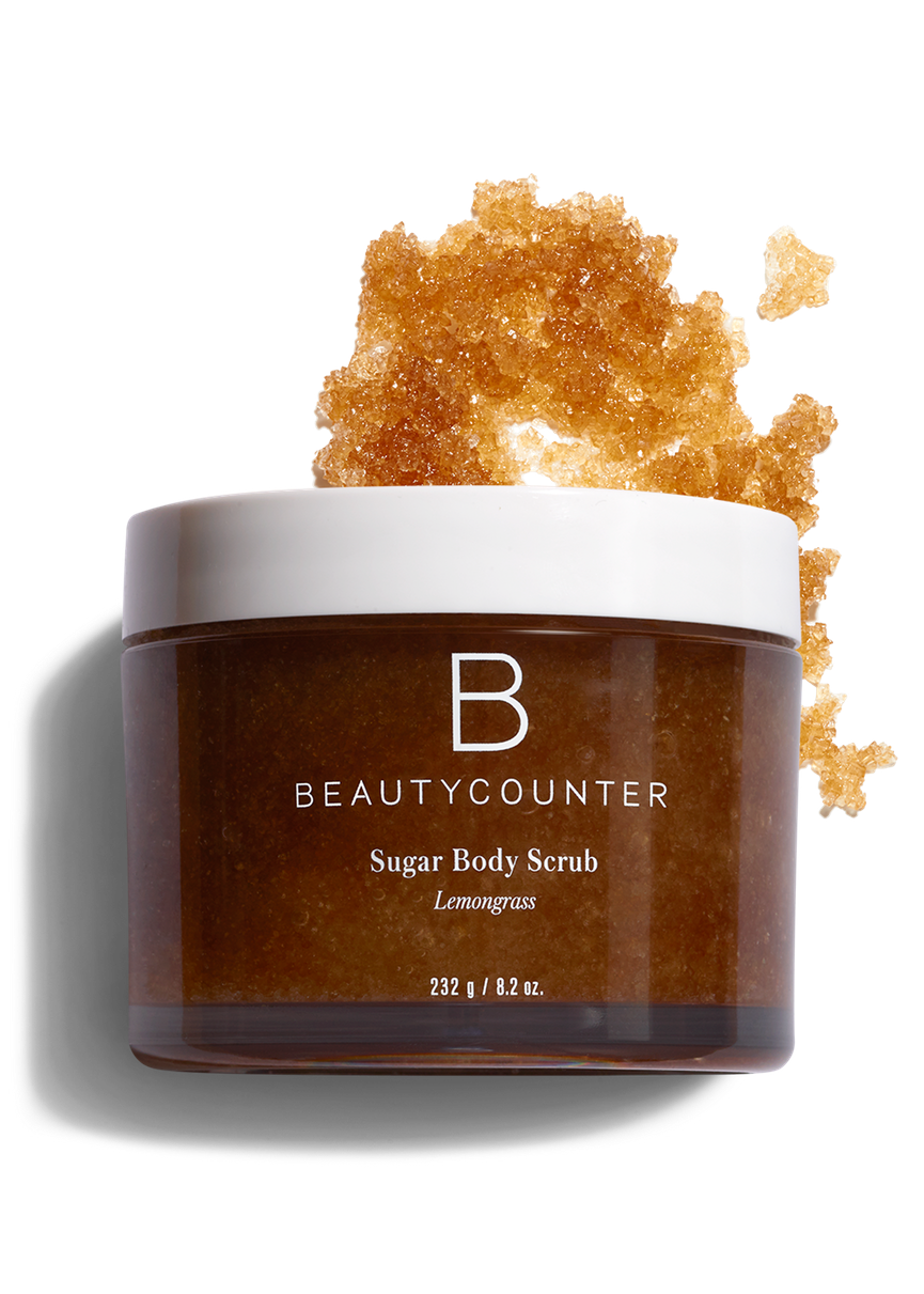 A skin loving sugar scrub - This Lemongrass sugar scrub is HANDS DOWN my favorite product in my shower right now. Sloughs off the dead cells without being too rough and leaves your skin fresh and nourished