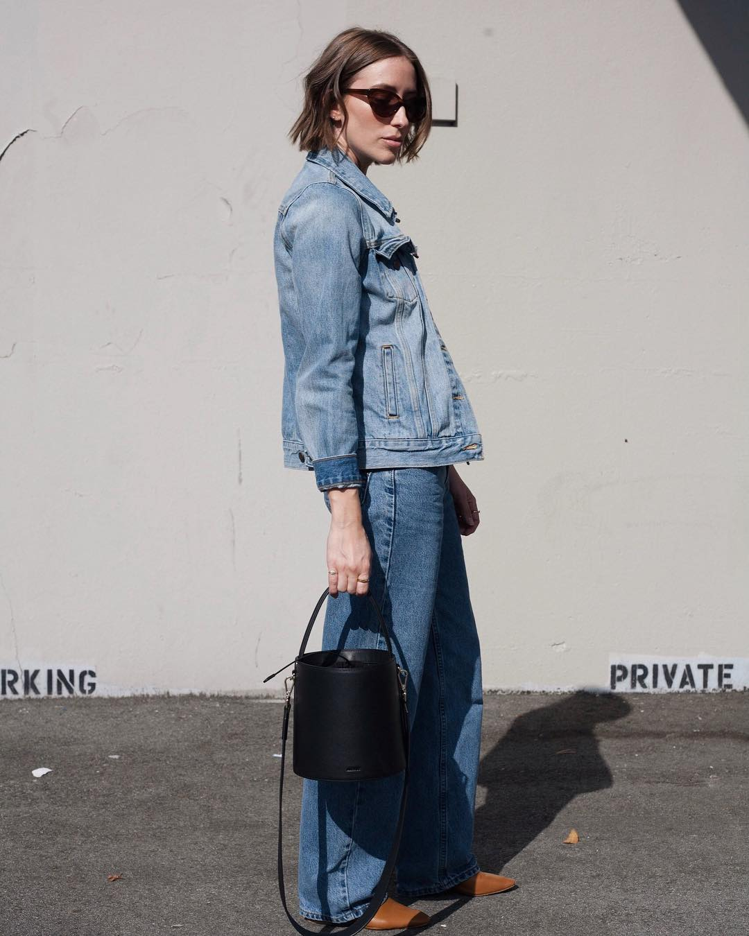 Kirstyn in a mix of modern + vintage denim