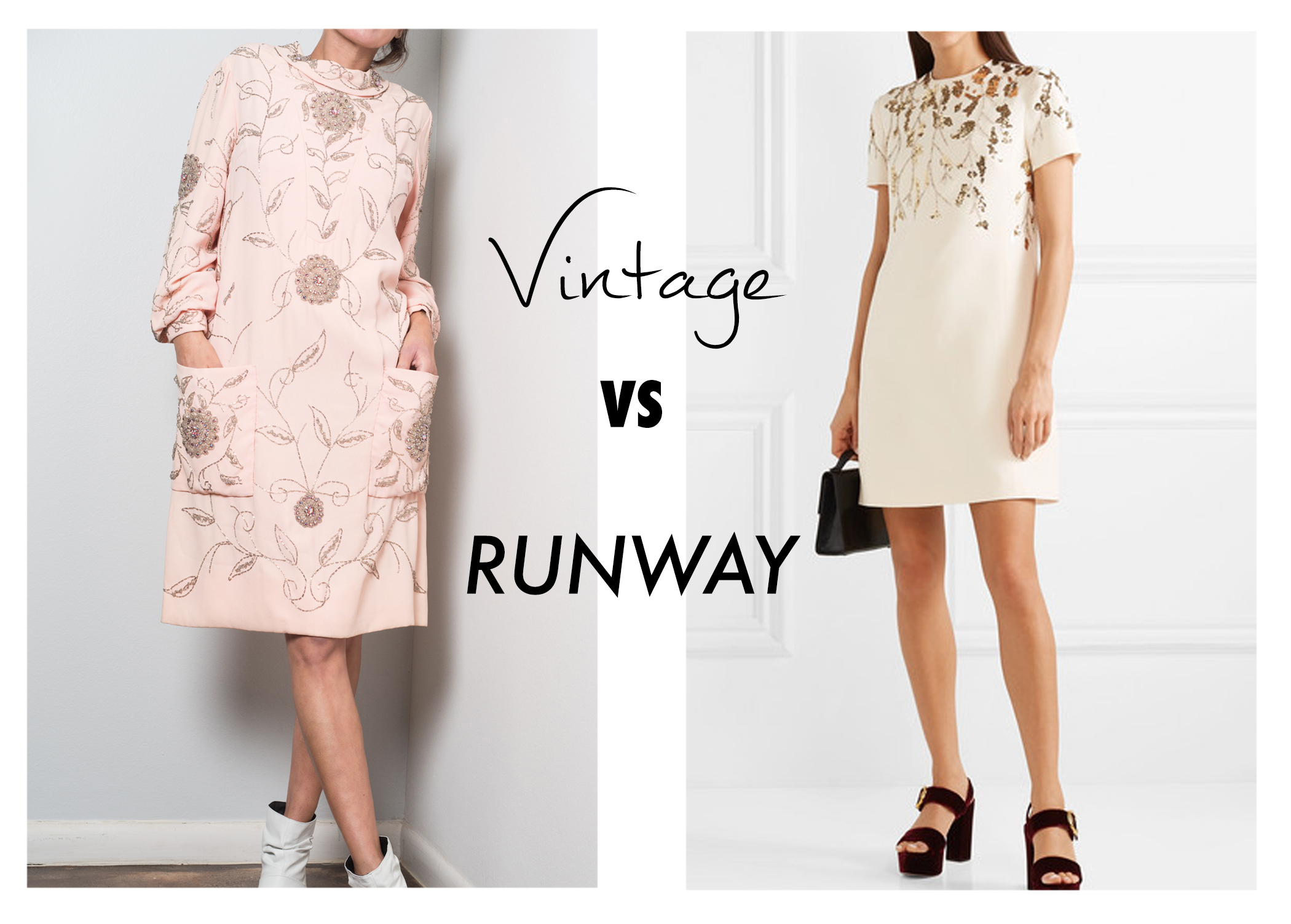 - 1960s rhinestone detailed crepeVS.$5,200 Valentino Mini dress