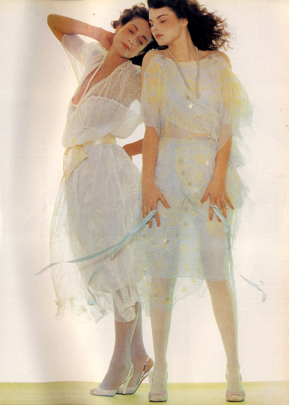 Photo via Pinterest. 1980, Harpers and Queen Magazine