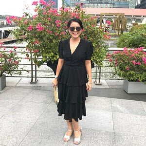 Pamela in vintage Hanae Mori from A Part of the Rest.jpg