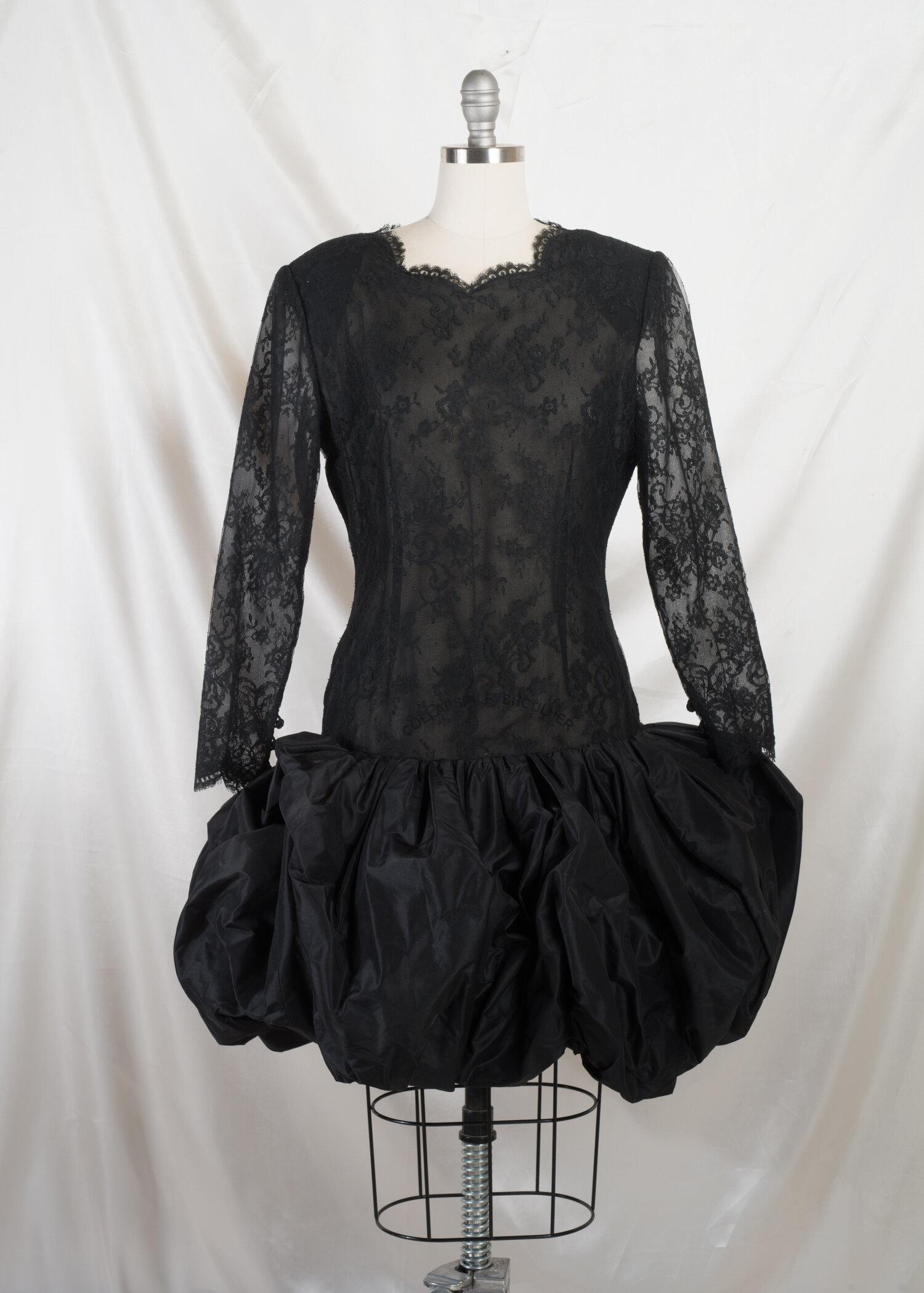 Black Lace Cocktail Skirt Oscar De La Renta A Line Short Elastic Waist Dressy Fancy Woman/'s Size XL Vintage