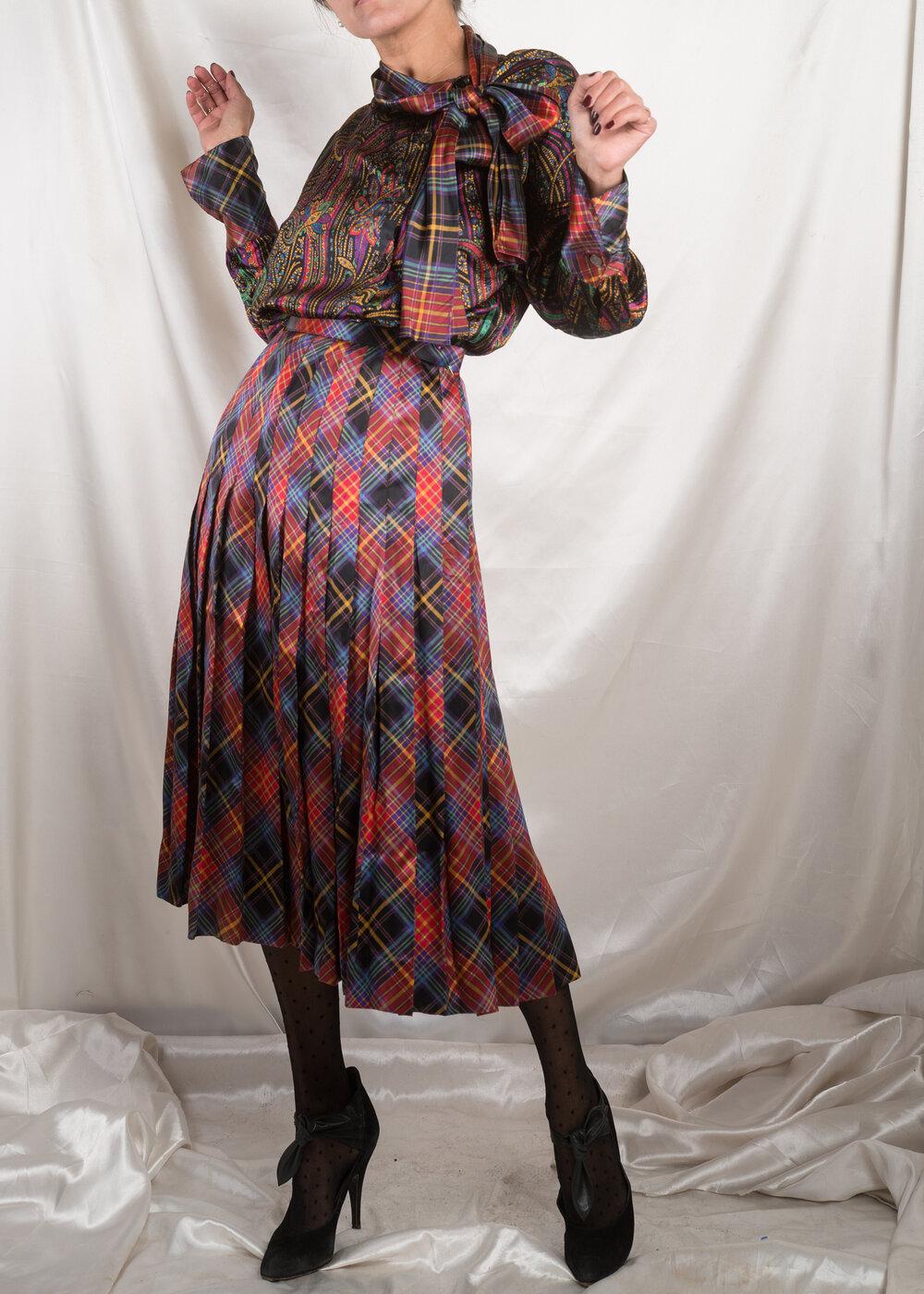 1980s Black Sandwashed Silk Blazer Dress