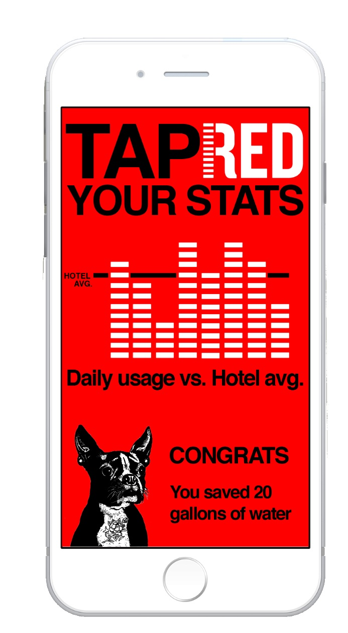 SmartPhone App - Designed to alert guests when they have surpassed the hotel's average daily usage