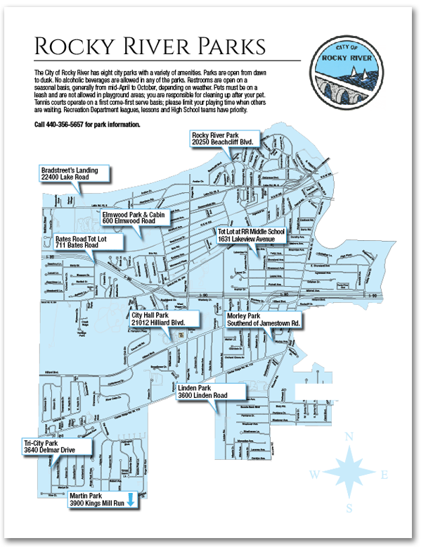 Download the Rocky River Parks Map (pdf).