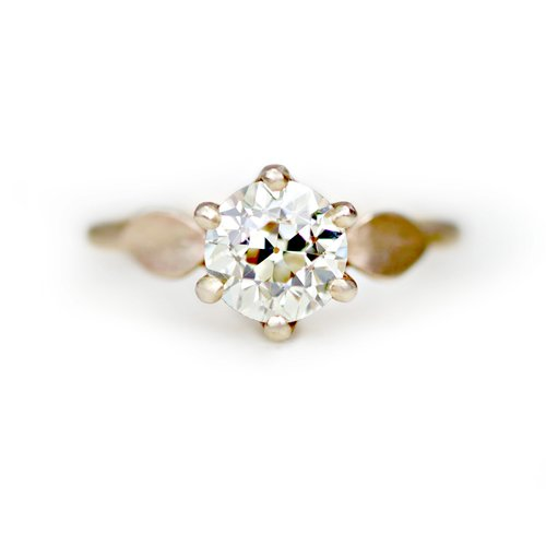 ed0ae85e5d306 THE SAGE SOLITAIRE with a 1.74 carat antique transitional cut diamond —  Katie Carder