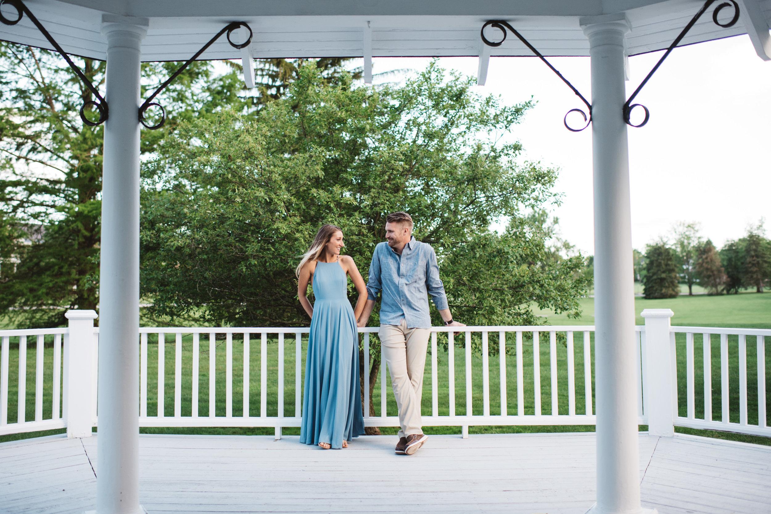 Erika Aileen Photography Fort Benjamin Harrison Porter Books Engagement Session Indianapolis Wedding Photographer