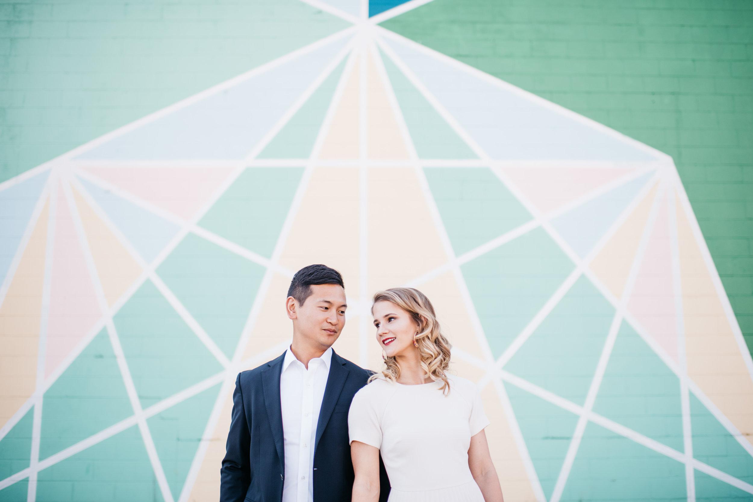Downtown Indianapolis Engagement Session Indianapolis Wedding Photographer Erika Aileen